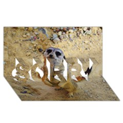 Lovely Meerkat 515p Sorry 3d Greeting Card (8x4)  by ImpressiveMoments