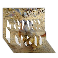 Lovely Meerkat 515p Thank You 3d Greeting Card (7x5)  by ImpressiveMoments