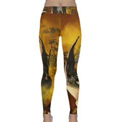 The Forgotten World In The Sky Yoga Leggings by FantasyWorld7
