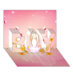 Wonderful Flowers With Butterflies And Diamond In Soft Pink Colors Boy 3d Greeting Card (7x5) by FantasyWorld7