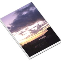Sunset Over The Valley Large Memo Pads by canvasngiftshop