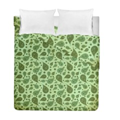Vintage Paisley Green Duvet Cover (twin Size) by MoreColorsinLife