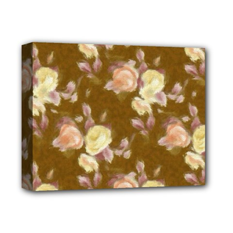 Vintage Roses Golden Deluxe Canvas 14  X 11  by MoreColorsinLife