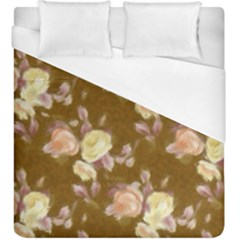 Vintage Roses Golden Duvet Cover Single Side (kingsize)
