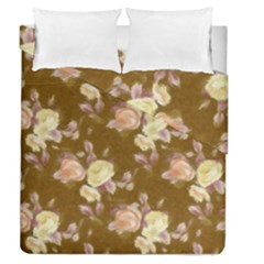 Vintage Roses Golden Duvet Cover (full/queen Size)