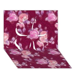 Vintage Roses Clover 3d Greeting Card (7x5)  by MoreColorsinLife