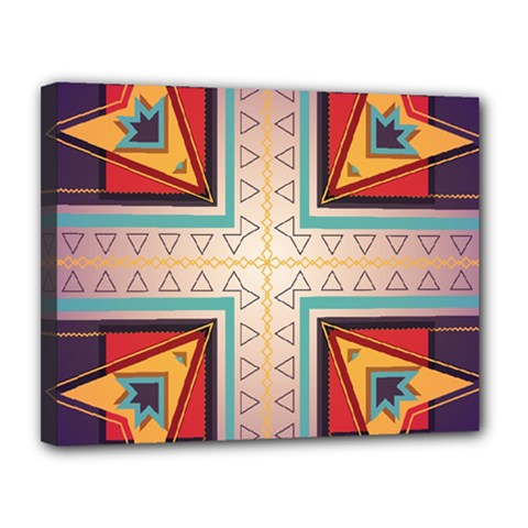 Cross And Other Shapes Canvas 14  X 11  (stretched) by LalyLauraFLM