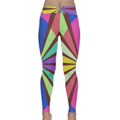 Rays In Retro Colors Yoga Leggings by LalyLauraFLM