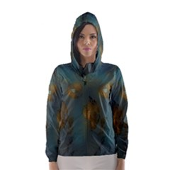 Broken Pieces Hooded Wind Breaker (women)	 by digitaldivadesigns