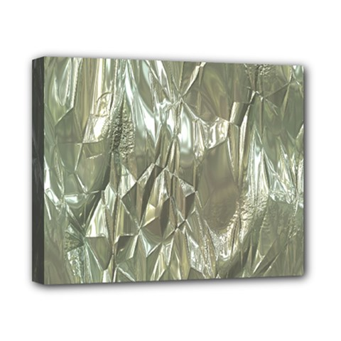 Crumpled Foil Canvas 10  X 8  by MoreColorsinLife