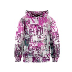 Checker Skull Graffiti Kids Zipper Hoodies by ArtistRoseanneJones