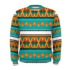 Tribal Design In Retro Colors  Men s Sweatshirt by LalyLauraFLM