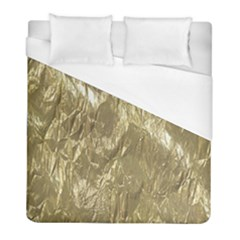 Crumpled Foil Golden Duvet Cover Single Side (twin Size) by MoreColorsinLife