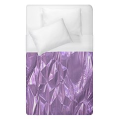 Crumpled Foil Lilac Duvet Cover Single Side (single Size) by MoreColorsinLife