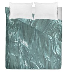 Crumpled Foil Teal Duvet Cover (full/queen Size)