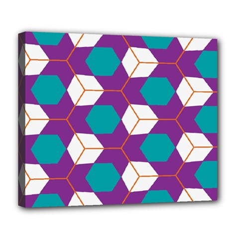 Cubes In Honeycomb Pattern Deluxe Canvas 24  X 20  (stretched) by LalyLauraFLM