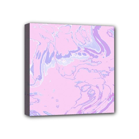 Unique Marbled 2 Baby Pink Mini Canvas 4  X 4  by MoreColorsinLife