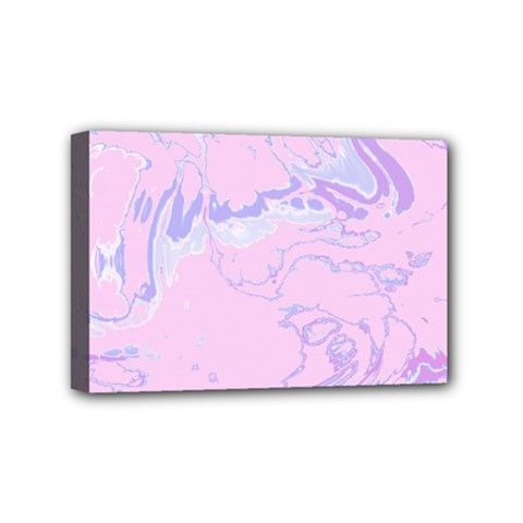 Unique Marbled 2 Baby Pink Mini Canvas 6  X 4  by MoreColorsinLife