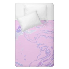 Unique Marbled 2 Baby Pink Duvet Cover (single Size)