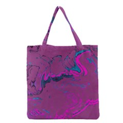 Unique Marbled 2 Hot Pink Grocery Tote Bags by MoreColorsinLife