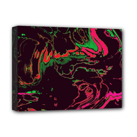 Unique Marbled 2 Tropic Deluxe Canvas 16  X 12   by MoreColorsinLife
