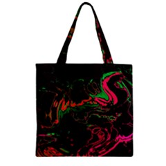 Unique Marbled 2 Tropic Zipper Grocery Tote Bags by MoreColorsinLife
