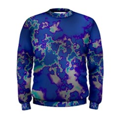 Unique Marbled Blue Men s Sweatshirts by MoreColorsinLife
