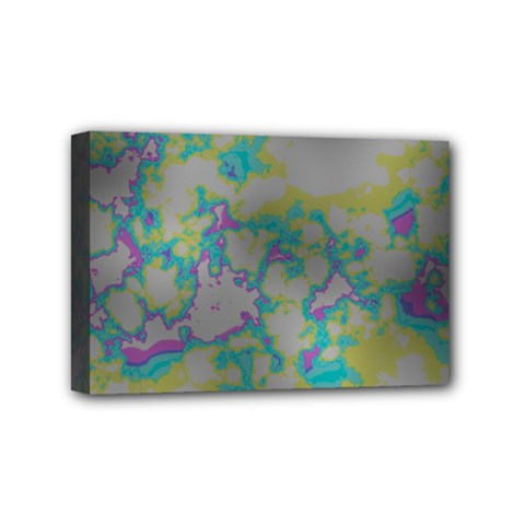 Unique Marbled Candy Mini Canvas 6  X 4  by MoreColorsinLife