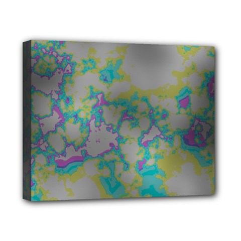 Unique Marbled Candy Canvas 10  X 8  by MoreColorsinLife