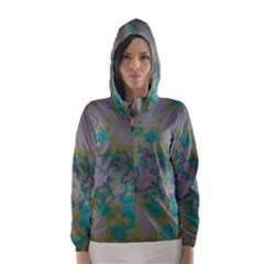 Unique Marbled Candy Hooded Wind Breaker (women)