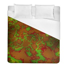 Unique Marbled Hot Duvet Cover Single Side (twin Size) by MoreColorsinLife