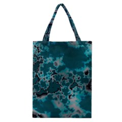 Unique Marbled Teal Classic Tote Bags by MoreColorsinLife