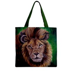 Lion Zipper Grocery Tote Bags