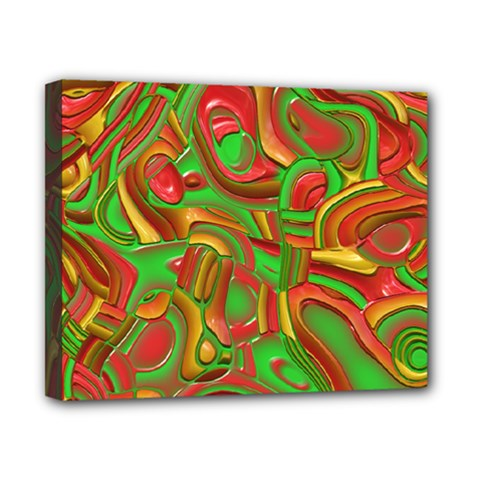 Art Deco Red Green Canvas 10  X 8  by MoreColorsinLife