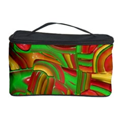 Art Deco Red Green Cosmetic Storage Cases by MoreColorsinLife