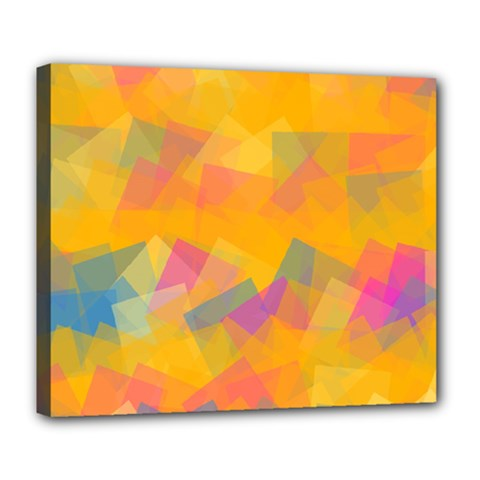 Fading Squares Deluxe Canvas 24  X 20  (stretched) by LalyLauraFLM