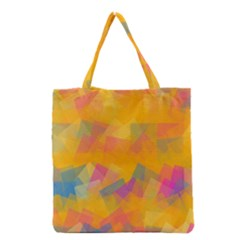 Fading Squares Grocery Tote Bag by LalyLauraFLM