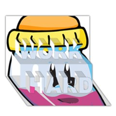 Purp Baby Bottle Work Hard 3d Greeting Card (7x5)