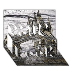 Metal Art London Tower Bridge You Rock 3d Greeting Card (7x5)  by MoreColorsinLife
