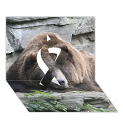 Tired Bear Ribbon 3d Greeting Card (7x5)  by MoreColorsinLife