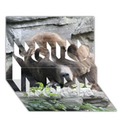 Tired Bear You Rock 3d Greeting Card (7x5)