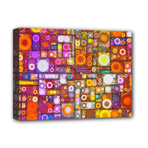 Circles City Deluxe Canvas 16  X 12   by KirstenStar
