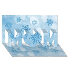 Winter Bokeh Blue Mom 3d Greeting Card (8x4)  by MoreColorsinLife