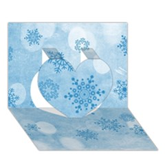 Winter Bokeh Blue Heart 3d Greeting Card (7x5)  by MoreColorsinLife