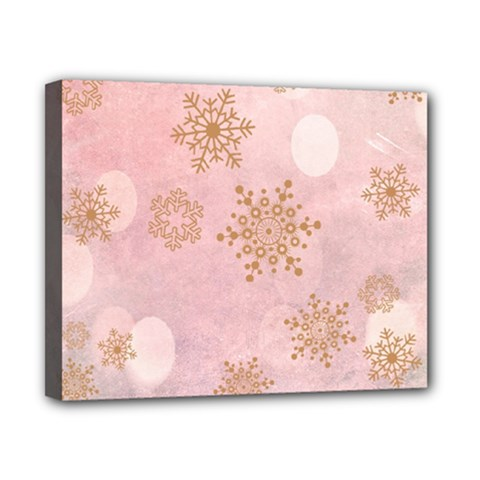 Winter Bokeh Pink Canvas 10  X 8  by MoreColorsinLife