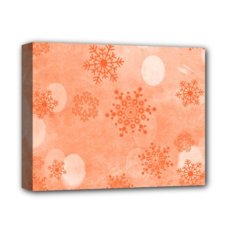 Winter Bokeh Red Deluxe Canvas 14  X 11  by MoreColorsinLife