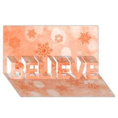 Winter Bokeh Red Believe 3d Greeting Card (8x4)  by MoreColorsinLife