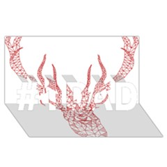Modern Red Geometric Christmas Deer Illustration #1 Dad 3d Greeting Card (8x4)  by Dushan