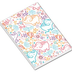Cute Pastel Tones Elephant Pattern Large Memo Pads by Dushan