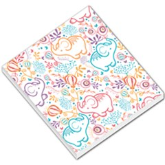 Cute Pastel Tones Elephant Pattern Small Memo Pads by Dushan